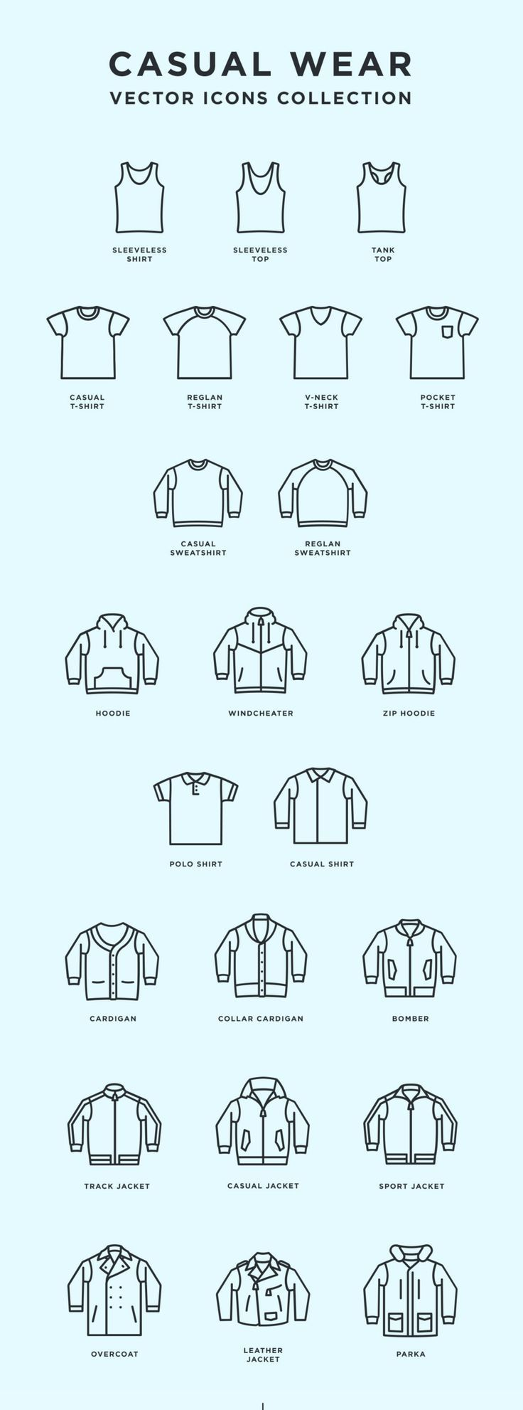 Free Casual Wear Icons | Outfit icons