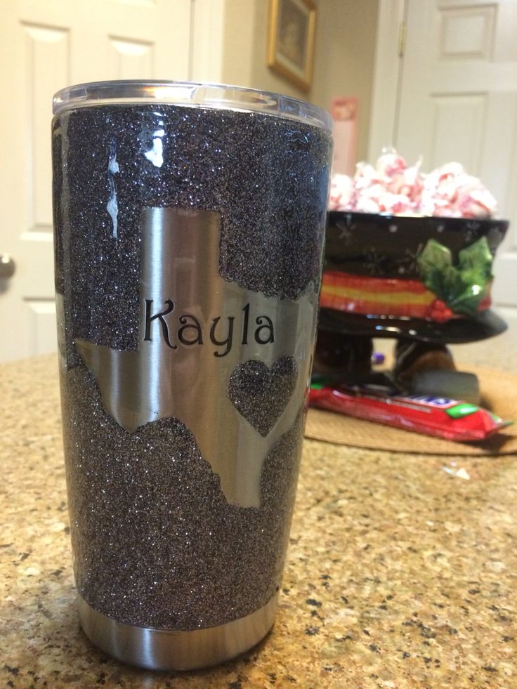 yeti cup decorated and clear coated