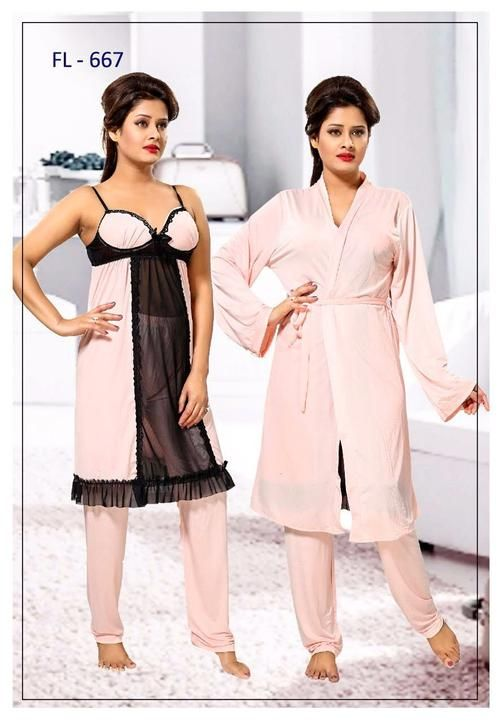 Stylish FL-667 - Flourish Exclusive Bridal Nighty Set Collection ... 082f14726