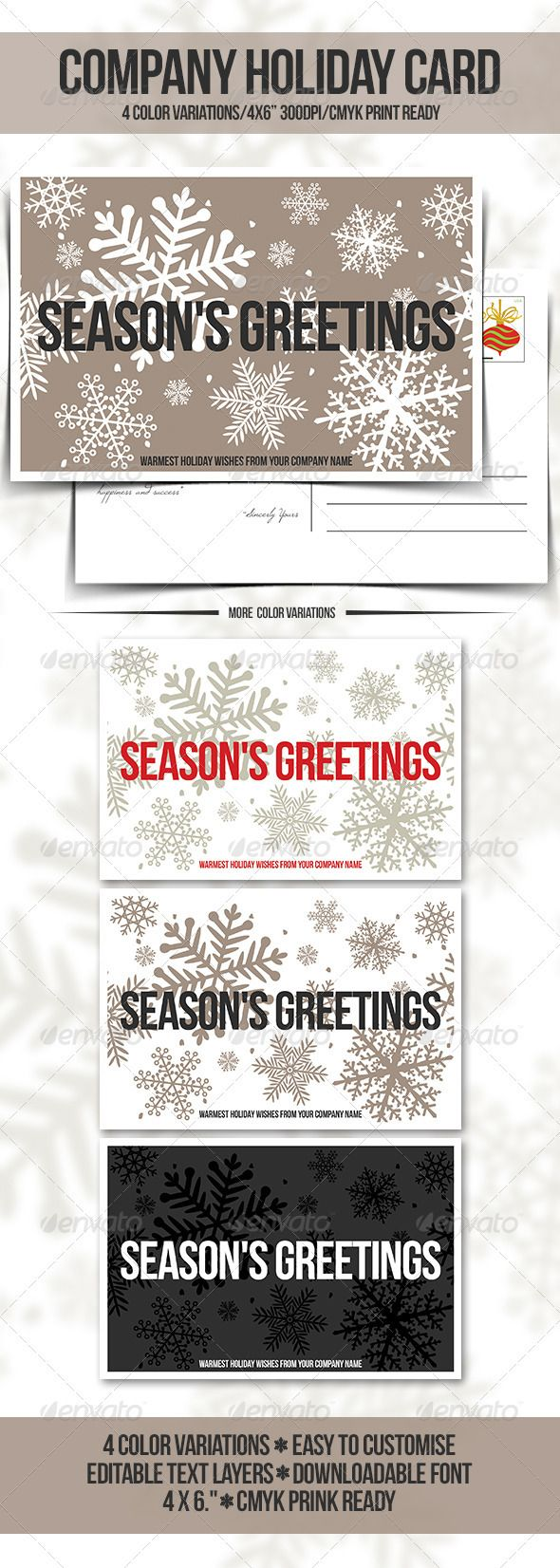 11 best crcf christmas cards images on pinterest christmas cards buy company holiday greeting card postcard by seeseo on graphicriver this psd file is setup at with bleeds cmyk and ready to print kristyandbryce Image collections