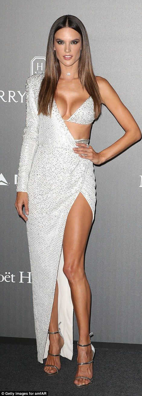 Burn white hot in radiant Julien Macdonald like Alessandra #DailyMail Click to shop now