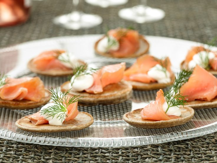 Blini with Smoked Salmon recipe from Ina Garten via Food Network
