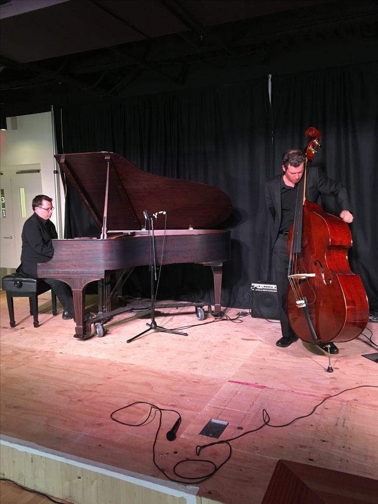 Jon Day (piano) and Jeremy Coates (bass)