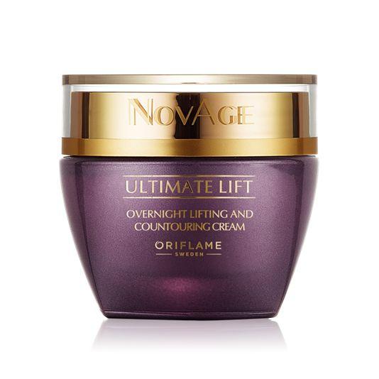 NovAge Ultimate Lift Overnight Lifting & Contouring Cream krim malam dengan nutrisi ekstra yang mengandung Aspartolift dan PhytoCell. Menghidrasi, merawat, kekencangan dan elesisitas saat anda tidur untuk tampilan wajah kencang dengan kontur lugas dan kerut yang tersamar. dengan keharuman lembut.