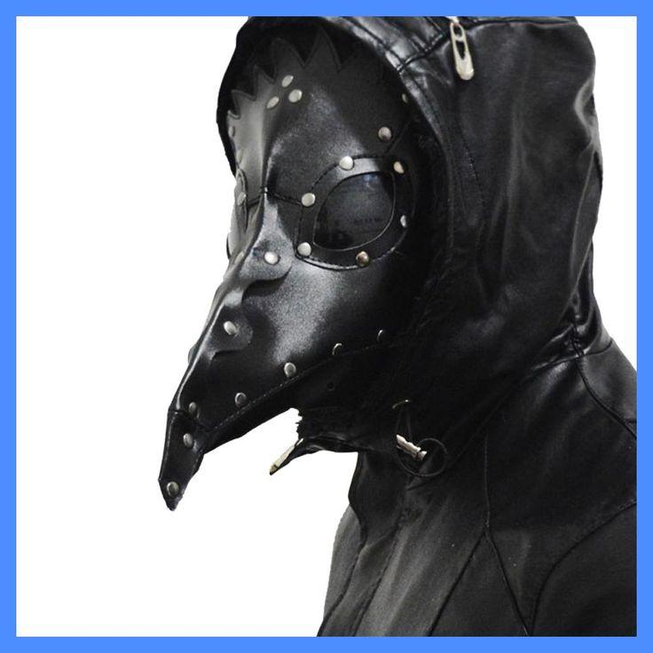 Steampunk Faux Leather Dark Doctor Masks Medieval History Death Bird Long Beak Masks Halloween Carnival Costume Props Face Mask