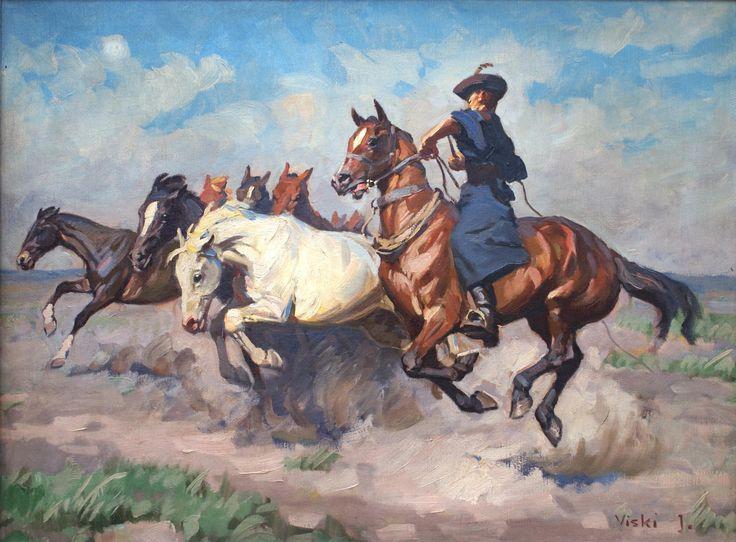 Viski János, (1891 -1961) Horse painting
