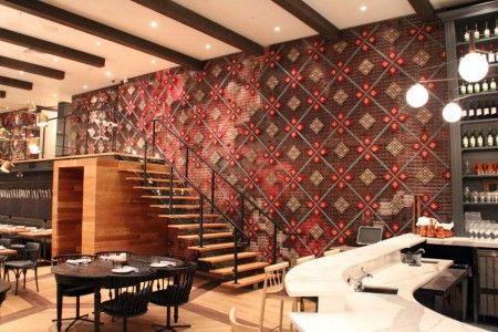Mur en point de croix - restaurant espagnol de Toronto Laura Carwadine