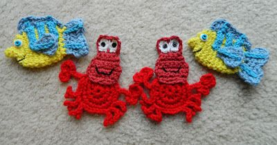 crochet d lane: The Little Mermaid and Her Friends