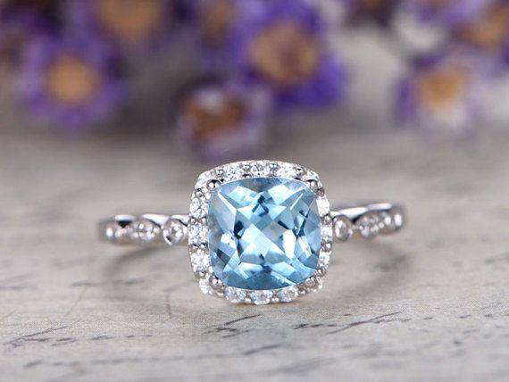 37 Best Birthstone Aquamarine Rings Images On Pinterest Aquamarine