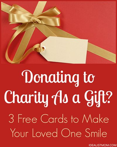 Making a donation to charity as a gift? Download these free printable DIY cards to make your loved ones smile.