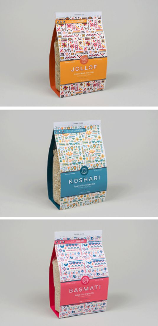 Rice packaging by Jamie Alloy
