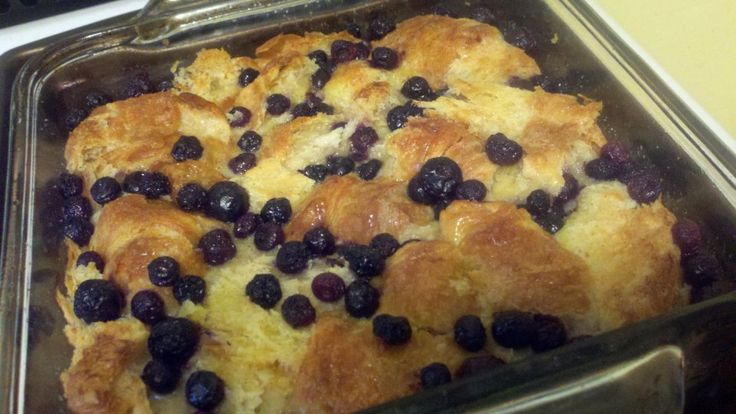 Studded with blueberries and later finished off with a light dusting of powdered sugar. Say Yum!