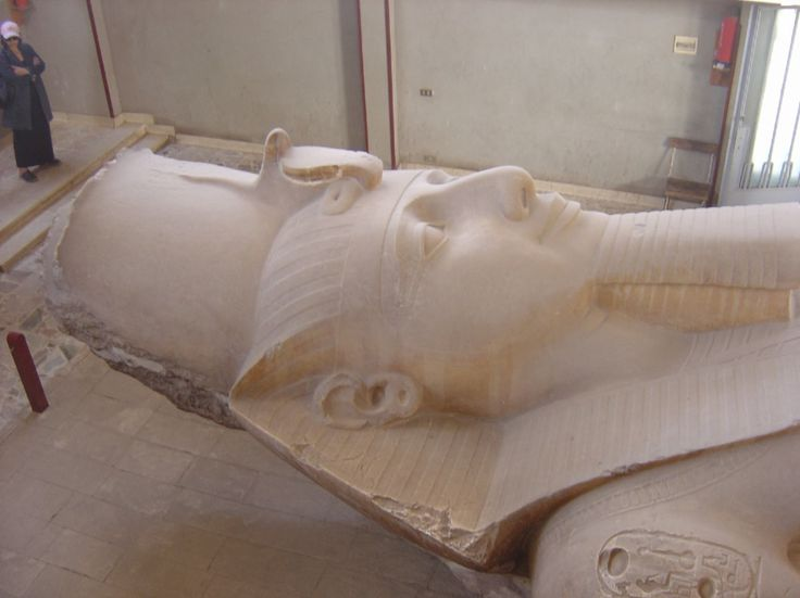 Cairo, Egypt, Ramesses II, 1290 BC, Memphis. Note cartouche - kings insignia on shoulder