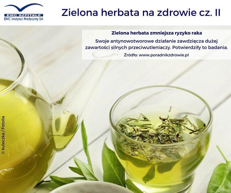 Zielona herbata zmniejsza ryzyko nowotworów. #emc #emcszpitale #zielonaherbata