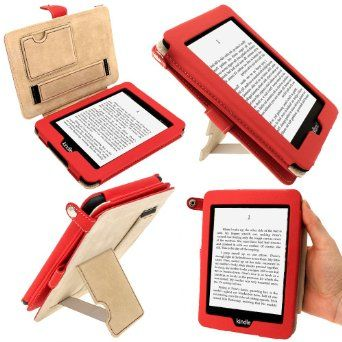 "igadigtz Rouge PU 'Bi-View' Étui Housse Cuir pour Amazon Kindle PaperWhite 3G 6"" Display Wi-Fi 2GB. Fonction de Mise en Veille & Courroie de Main: Amazon.fr: High-tech"