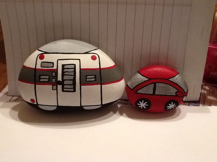 Car n Camper painted rock!