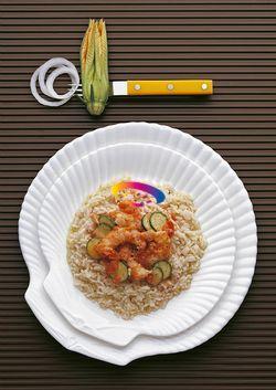 Risotto con scampi e zucchine | Cucinare Meglio