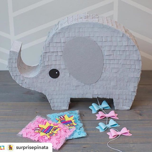 CUTE Gender Reveal Piñata! @surprisepinata #baby #babyshower #boy #girl…