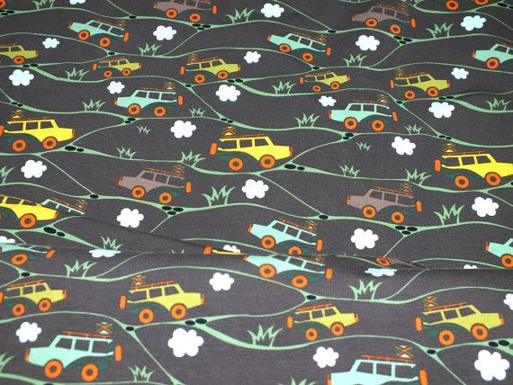 Jersey Safari Jeep bunt taupe little Darling fabric for kids Cotton Jersey 0, 50 m