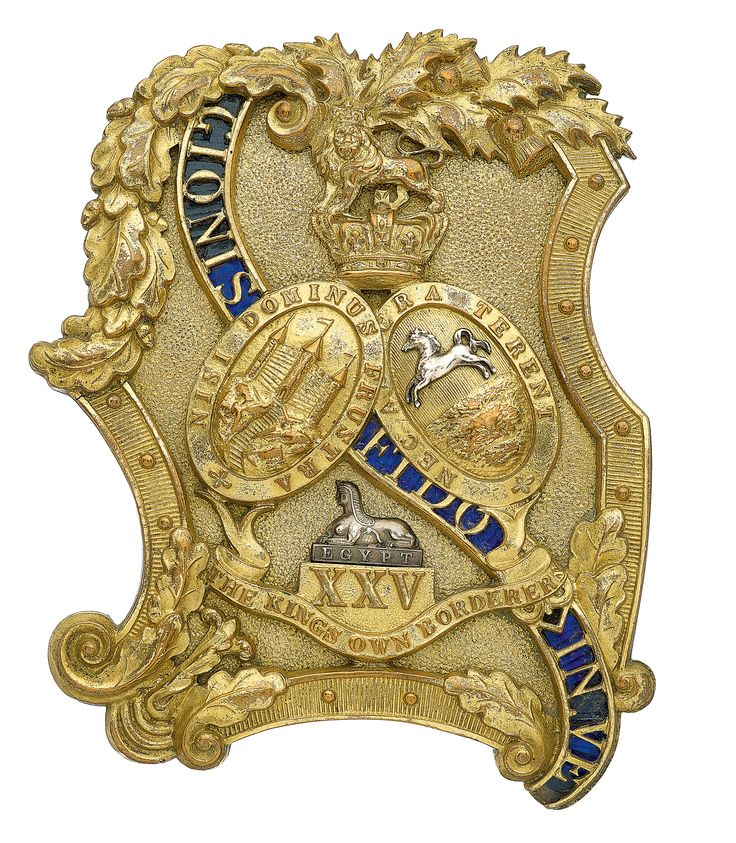 British; 25th (The King's Own Borderers) Officer's shoulder belt plate c.1840-55