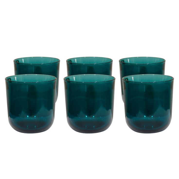 Six Glasses by Kaj Franck for Nuutajärvi, c1954.