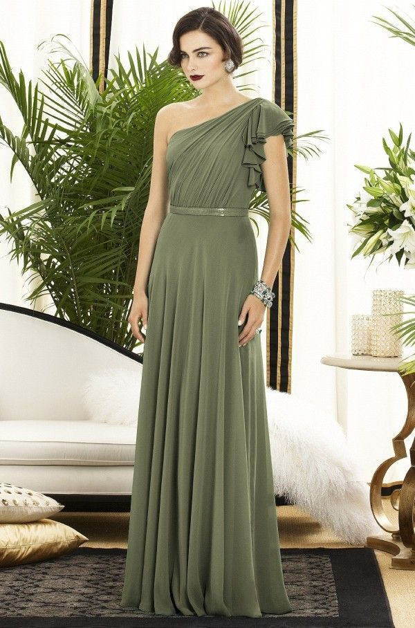 olive green wedding | Olive Green Bridesmaid Dress