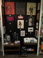 Apple of my Odd Eye's art stall at Arts Market http://www.pinterest.com/artsmarket/ #art #paintings #cards #buttons