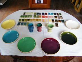 The most useful base glaze that I have found for cone 6 is a very easy to remember one. Danny Moorwood, a potter friend of mine recommended it, and I also found it on the digitalfire.com (glossy base glaze)site; as follows: 20 Wollastonite 20 Fritt 3134 (F 4108) 20 Potash Feldspar 20 Silica 20 China Clay  Danny uses ball clay rather than china clay. I have been mostly using a 50/50 mix of ball clay and china clay. The substitution of ball clay for china clay does slightly lower the…