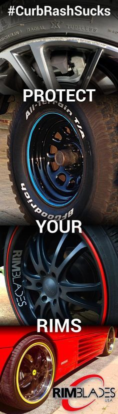 #CurbRashSucks. Protect Your Rims In Style with RimBlades.