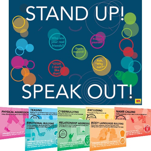 Stand Up, Speak Out Strategies 8-in-1 Poster Set  $18: Strategies 8 In 1, 8 In 1 Poster, Bully Prevention, Stand Up