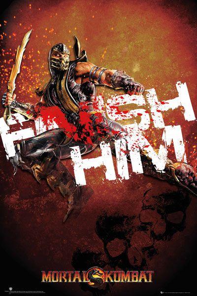 Póster Mortal Kombat, Finish Him Póster perteneciente a la exitosa saga de videojuego Mortal Kombat.