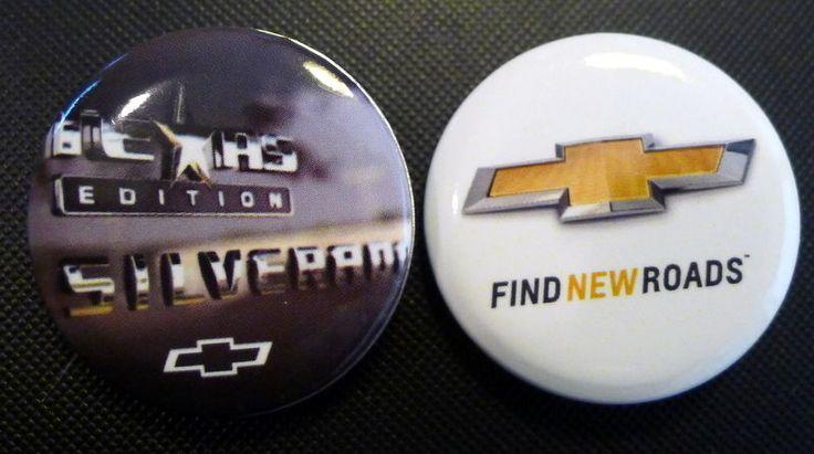 Silverado Texas Edition Chevy Truck Gold Bowtie Emblem Lot of 2 Hat Pins