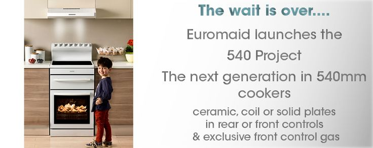 See our latest Euromaid 540 Range of Freestanding Cookers - www.euromaid.com.au