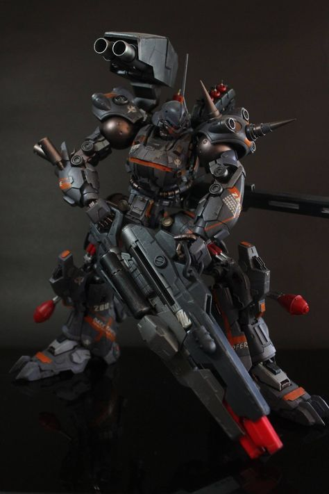 MS-18E Kampfer NEMESIS RAIDER ver. ACE MODELER : Ace Angelo MODIFICATION TYPE : Custom Paint / Heavy Modification KITS USED : 1/100 KampferPaints used: Pol