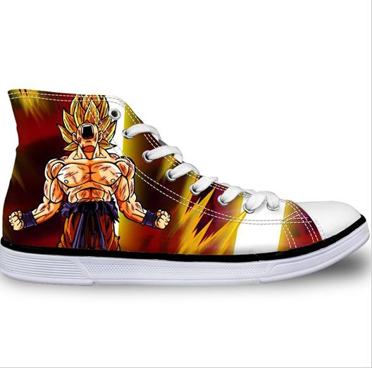 Dragon Ball Z Goku Super Saiyan HIGH TOP SHOES