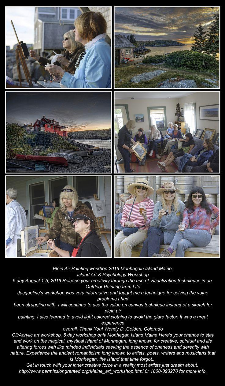 Plein Air Painting workhop 2016-Monhegain Island Maine.  Island Art & Psychology Workshop 5 day August 1-5, 2016 1800-393270 for more info.