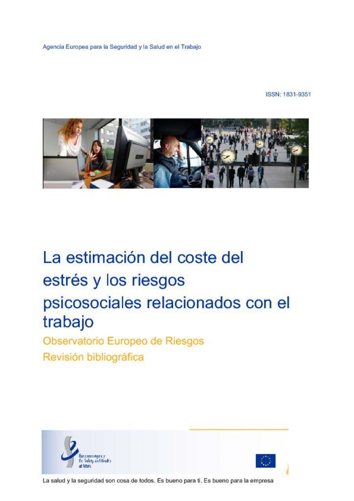 La estimación del coste del estrés y los riesgos psicosociales relacionados con el trabajo