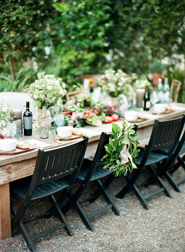 Lovely farm #tablescape for an al fresco dinner party | Photography: http://loveisabird.com | Floral Design: http://panaceaflowery.com