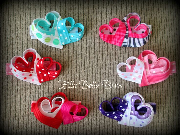 Tripe Heart Hair Clips!!  For Valentine's Day or all year round!  Come check them out on my fb page, http://www.facebook.com/home.php#!/pages/Ella-Bella-Bows/395431291322