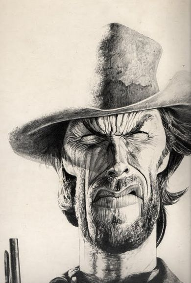 [ Clint Eastwood ]  - artist: Charles Da Costa - website: http://chadacosta44.blogspot.com