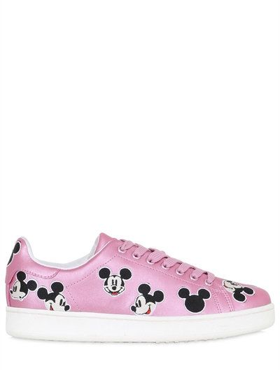 "MOA MASTER OF ARTS - SNEAKERS ""MICKEY"" IN PELLE METALLIZZATA - ROSA"