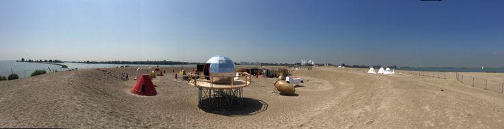 Urban campsite in amsterdam
