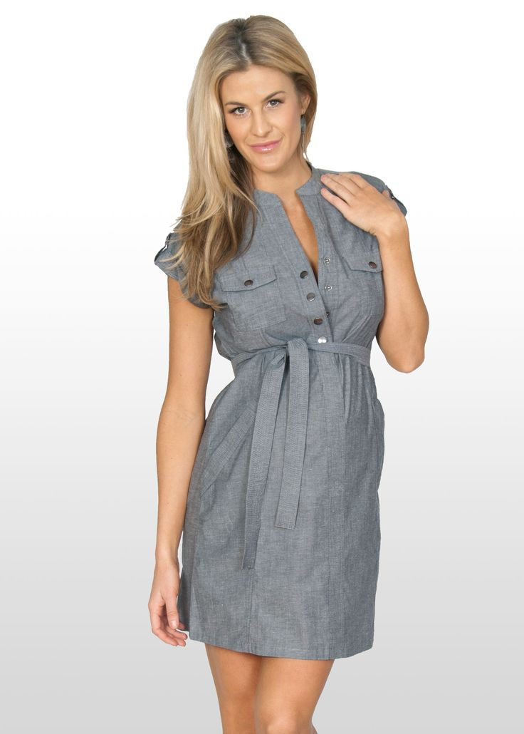 Perfect summer dress from Eve of Eden in light cotton chambray.  Suitable for work or casual wear and nursing.  $71 http://maternitywearnewcastle.com.au/category/nursing_dresses/