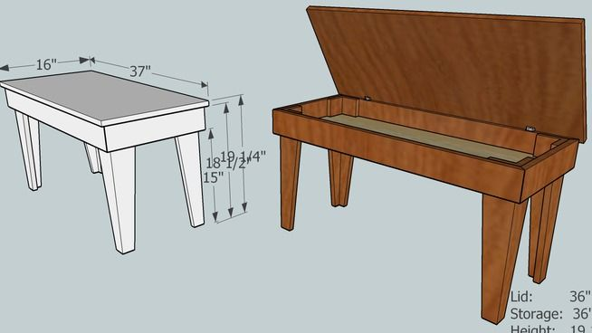 20 Best Images About Piano Bench Plans On Pinterest Home