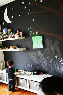 kids room blackboard wall - really really want to do this. Gotta talk the husband into it.