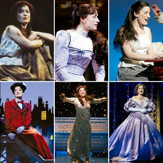 Laura Michelle Kelly: Eponine-Les Miserables, Eliza Doolittle-My Fair Lady, Hodel-Fiddler on the Roof, Mary Poppins-Mary Poppins, Sylvia Llewelyn Davies-Finding Neverland, Anna Leonowens-The King and I