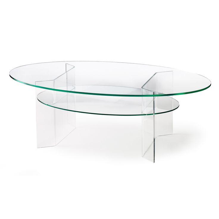 Combiplex Oval Coffee Table w/ Shelf