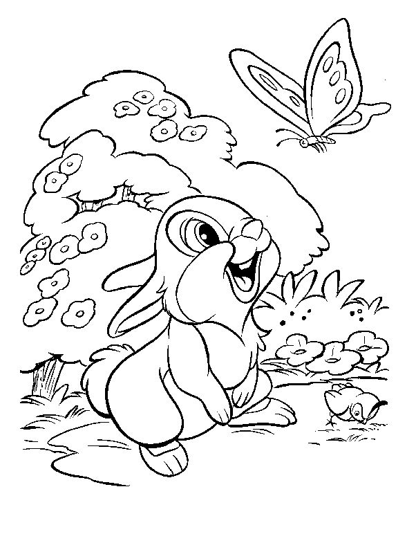 Thumper | Free Disney Coloring Pages