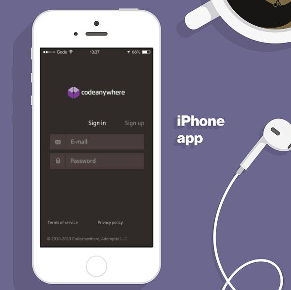 Codeanywhere App by Unity, via Behance