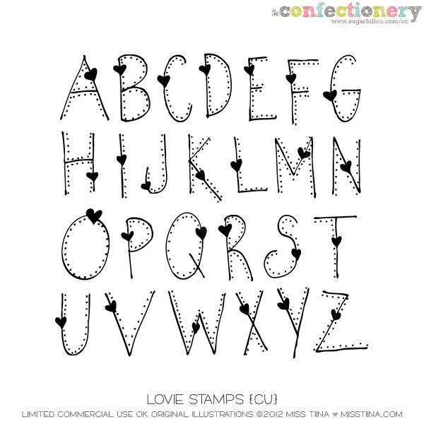 SHCO Confectionery - CU - Doodles/Brushes - Lovie Stamps {CU} Join at…
